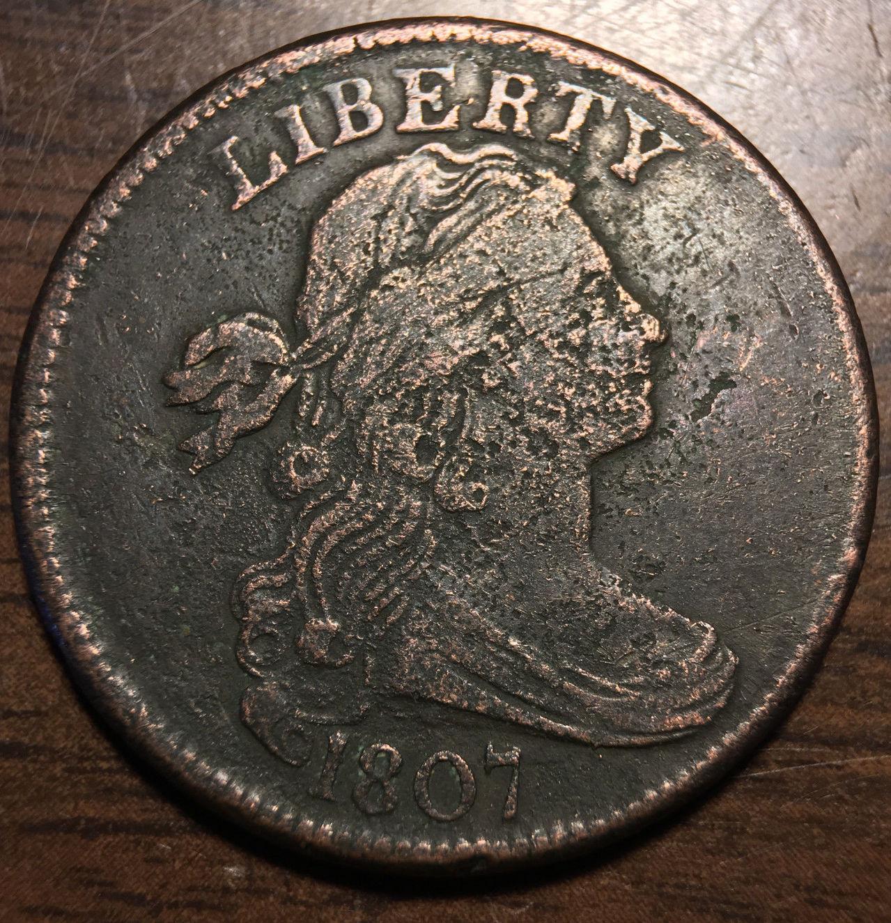 Tipo de moneda Estados Unidos 1807a