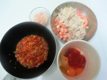 Budín (de verduras y de pescado) Budinpescamix