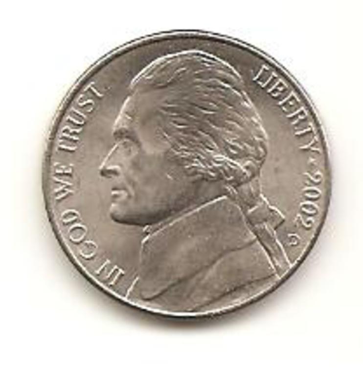 5 centavo de 2002 Estado Unidos  Image