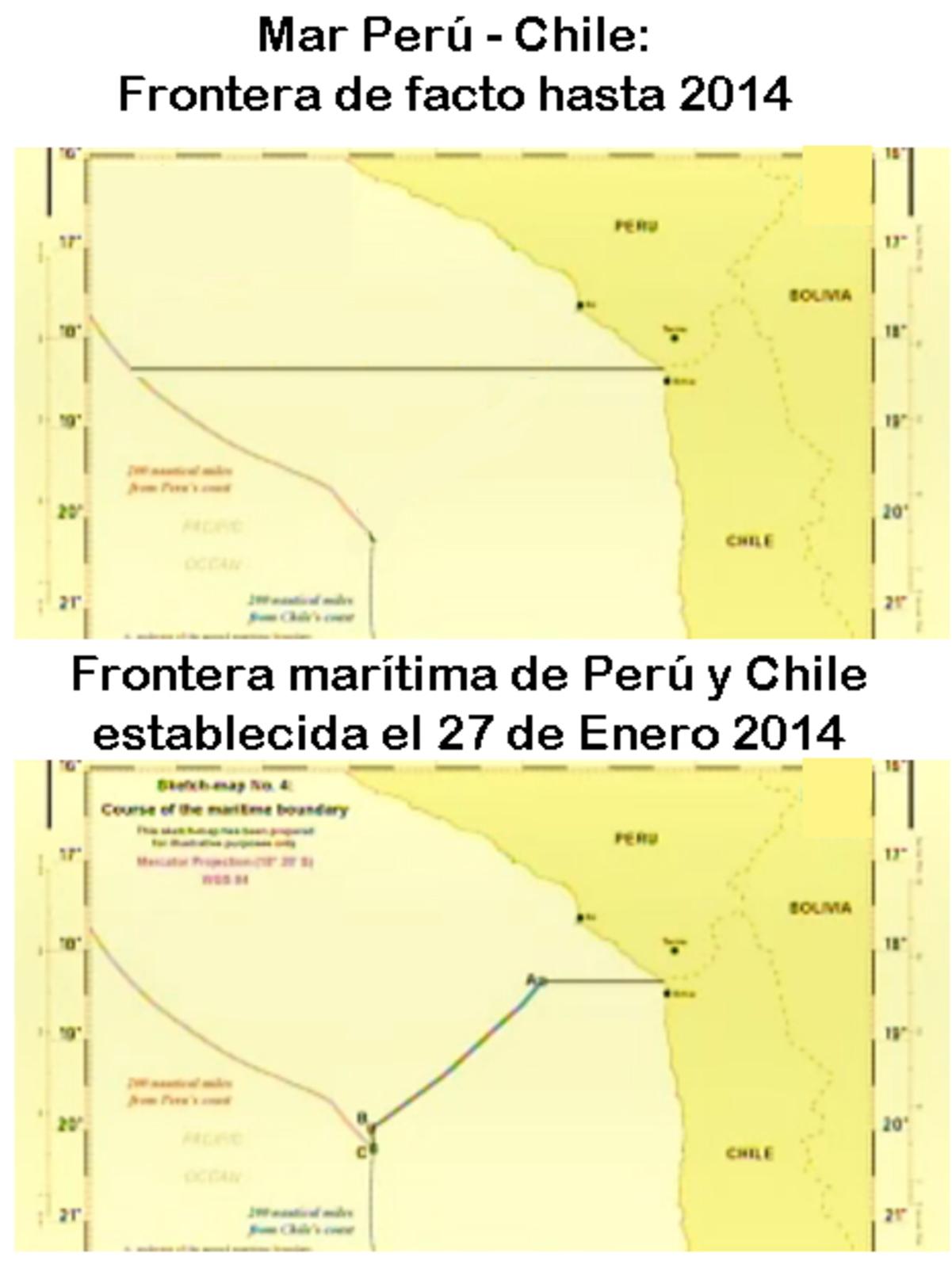 Bolivia define acceso maritimo a Chile como politica de Estado! - La Haya da el fallo a favor de Chile por sus acuerdos historicos firmados entonces! - Página 2 2014fronteraperuchile
