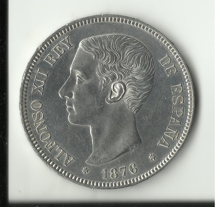 5 pesetas 1876 *18*76 - Alfonso XIII. 5_ptas_1876_sc