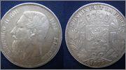 5 Francs. Leopoldo II. Bélgica, 1873 5_FR_LEOPOLDO_II_1873