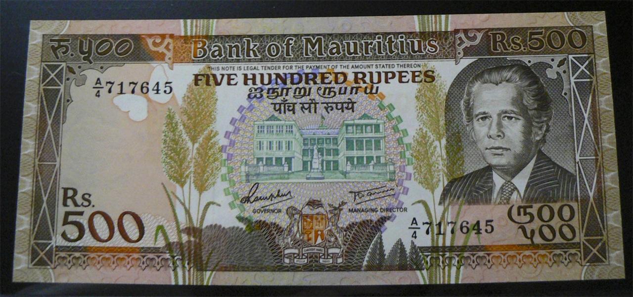 500 Rupias Islas Mauricio, 1988 Maurt40