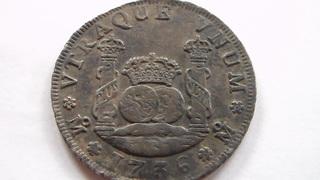 4 reales Felipe V, México. 1736. Tipo columnario.  SAM_1085