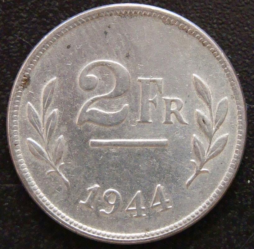belgica - 2 Francos. Bélgica (1944) BEL._2_Francos_1944_-_rev