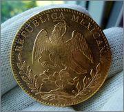 8 ESCUDOS 1857 Go. MEXICO Image