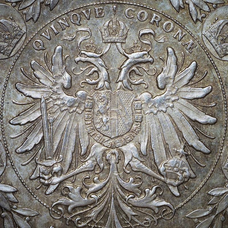5 coronas Austria 1900. Image