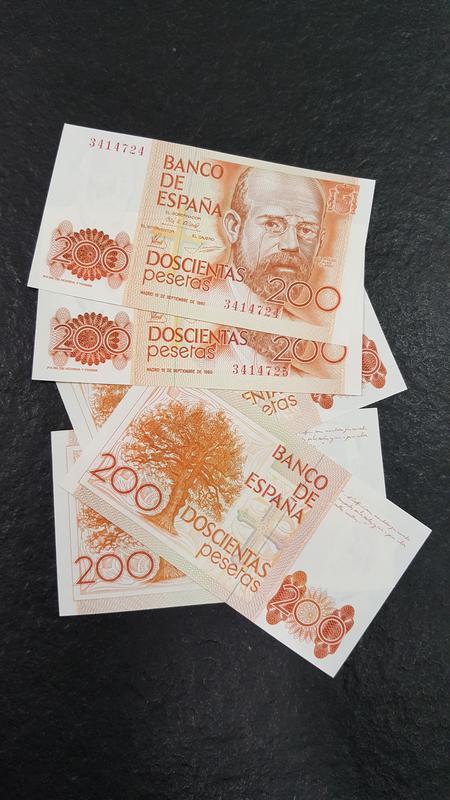 billete de 200 pesetas del 80  20171218_114807