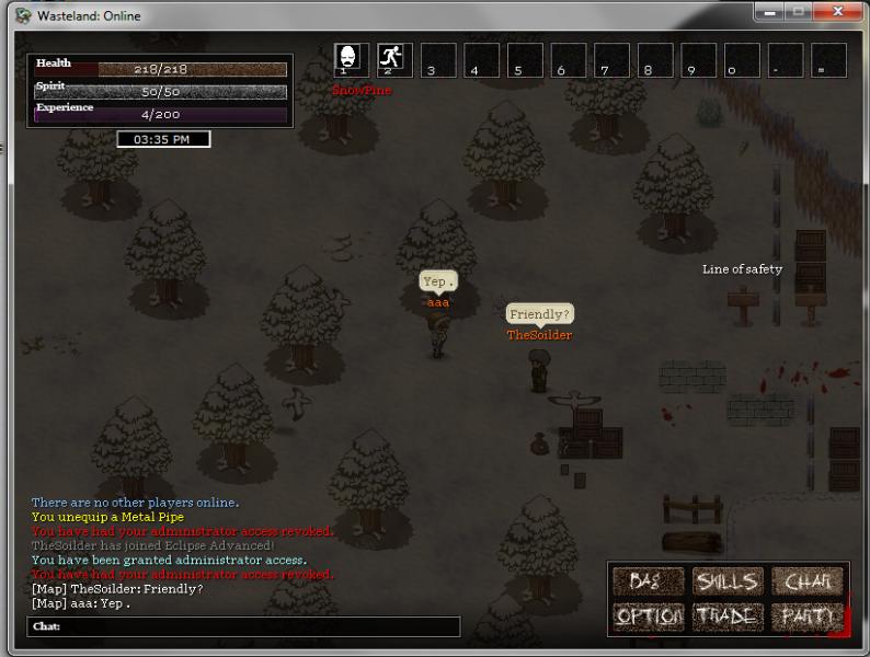 Wasteland Online - Updated Screenshots 2 (Online Players & Bag)   Yep