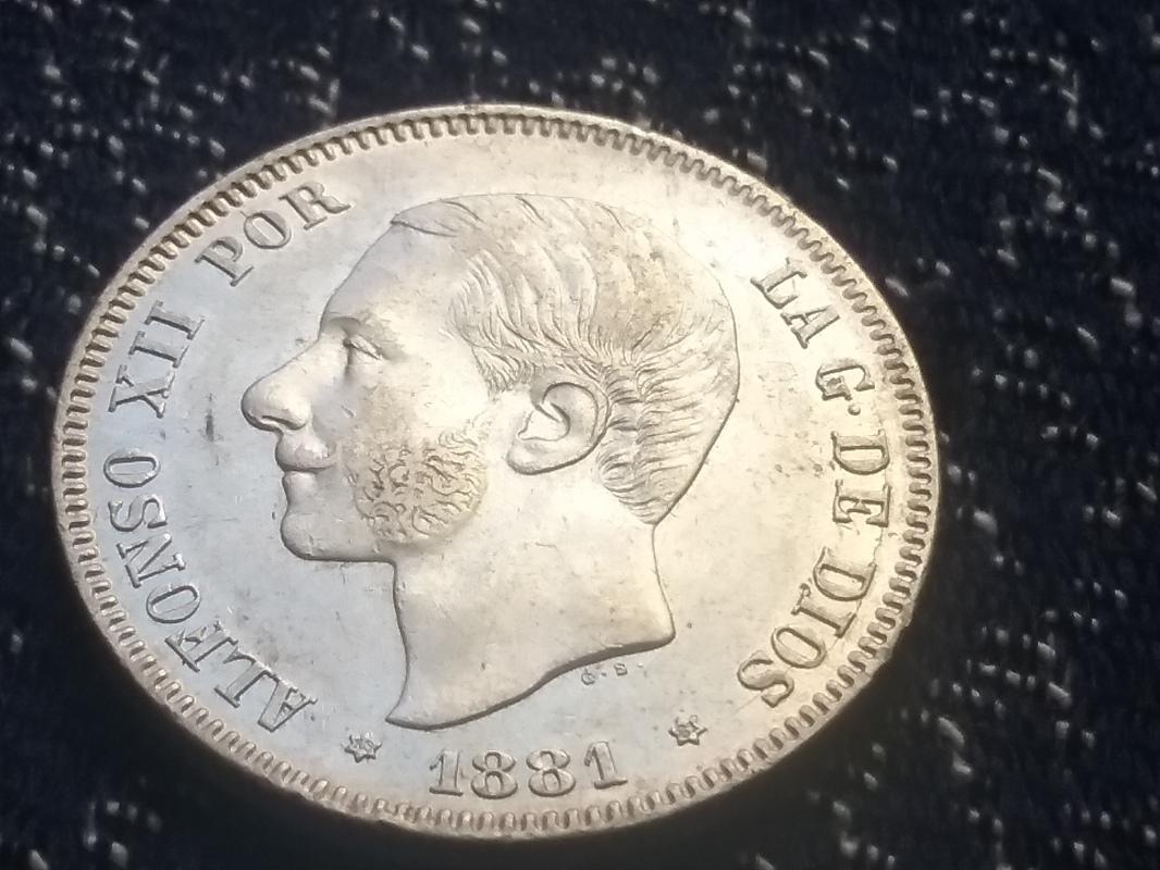 2 pesetas 1881. Alfonso XII 14936362231361523460421