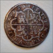 8 reales Felipe II 1588. Segovia (Real Ingenio). esta va dedicada a emiliano  Image