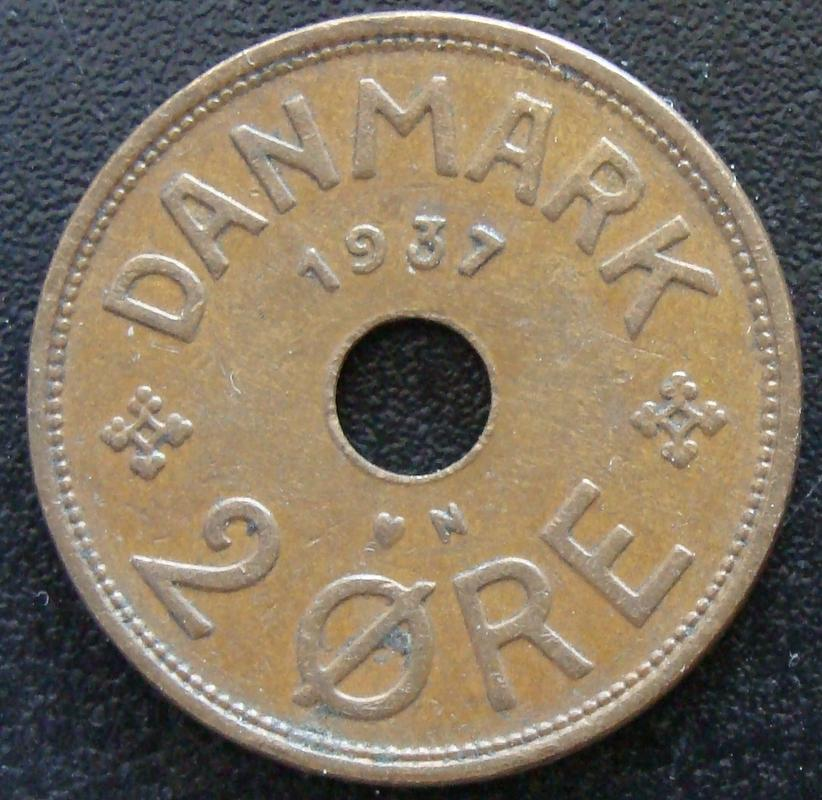 2 Ore. Dinamarca (1937) DIN._2_Ore_1937_-_rev