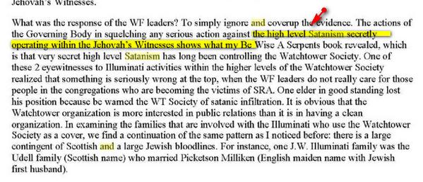 Témoins de Jéhovah, Franc-maçonnerie et Sionisme Image