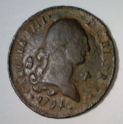 4 Maravedis 1794. Carlos IV. Segovia Image