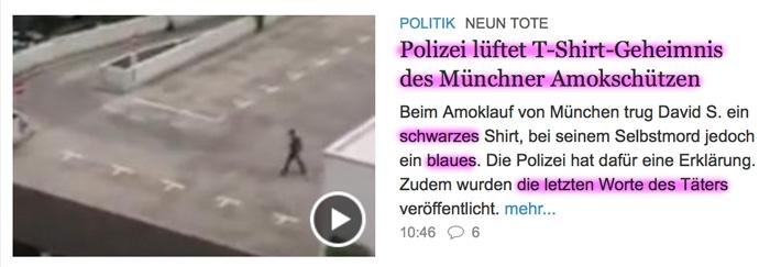 BRD under attack – Terror und Panik: München, Würzburg, Ansbach, Reutlingen - Seite 3 Tshirt