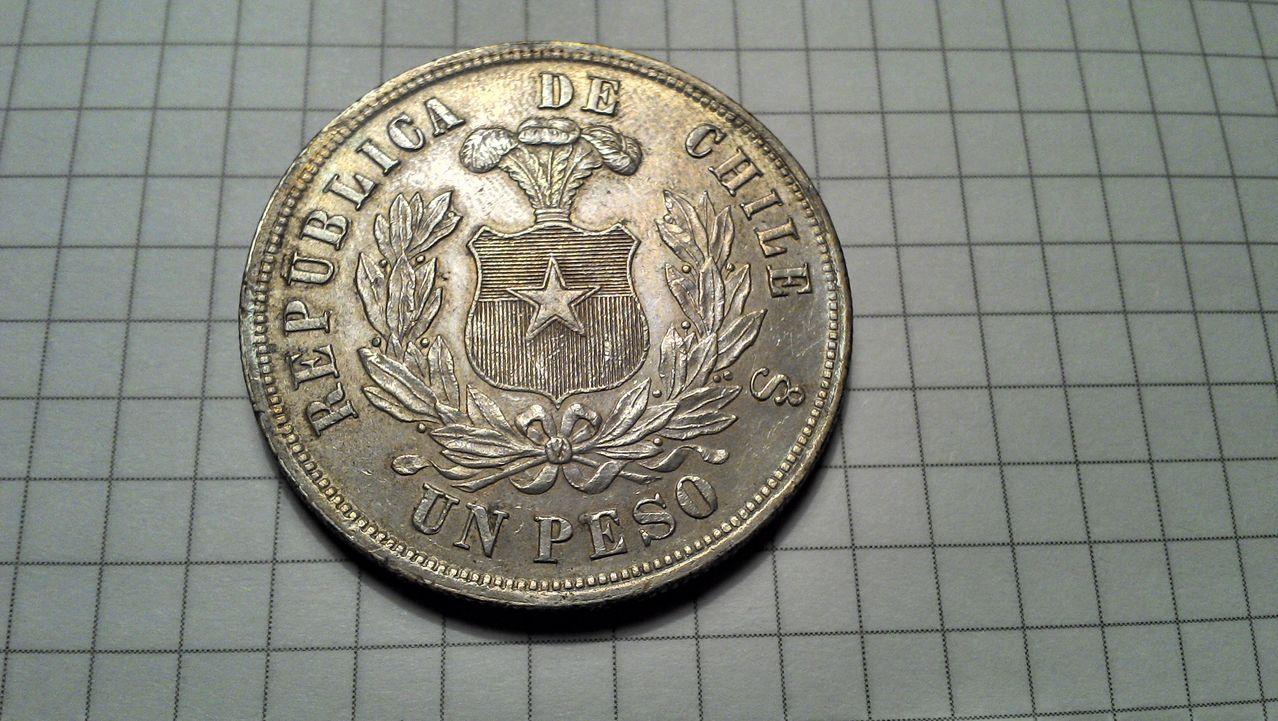 Peso Chileno de plata. Año 1881. Ayuda con valoracion UN_PESO_CHILE