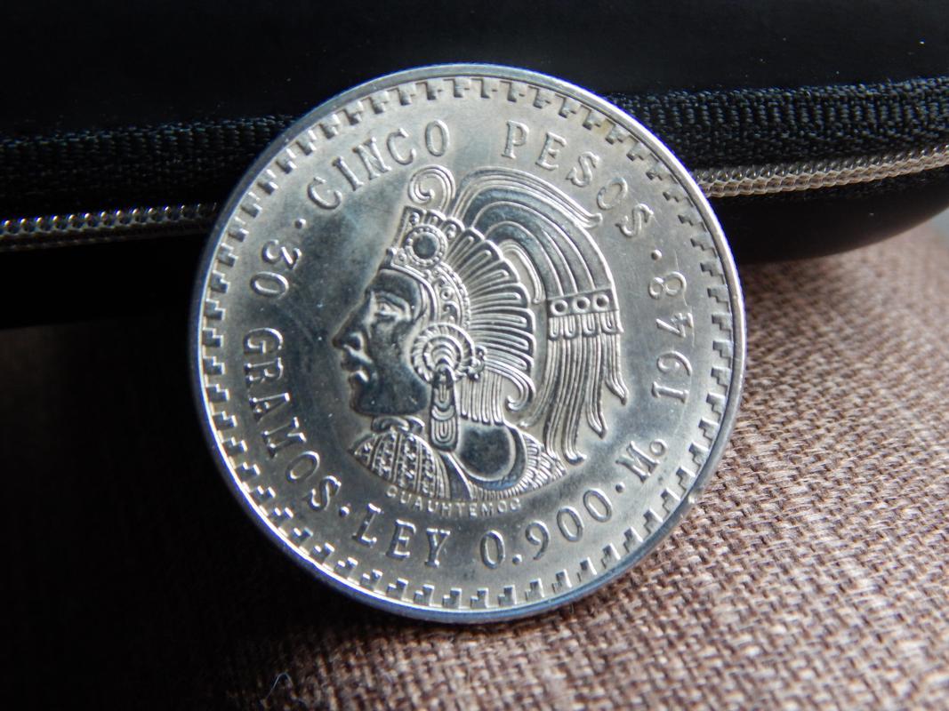 5 pesos Mexico 1948 DSCN2746