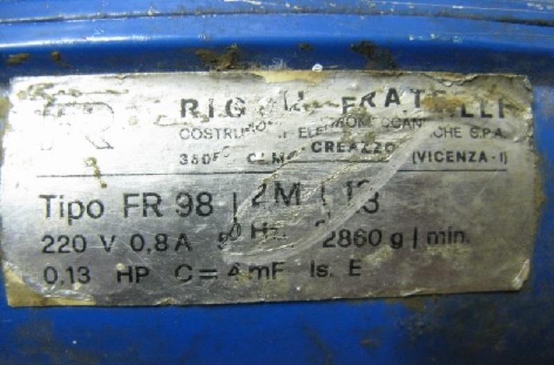 Dimensionare la ventola per una forgia a carbon coke Targa_motore