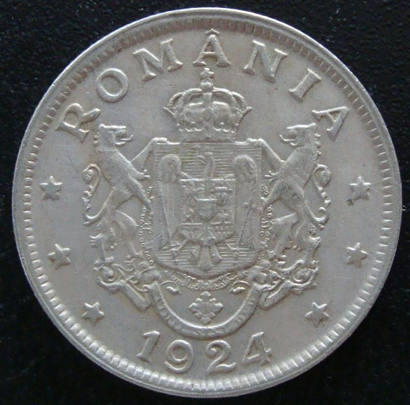 2 Lei. Rumania (1924) RUM._2_Lei_1924_-_anv