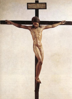 Jésus crucifié TOTALEMENT NU Crucifi