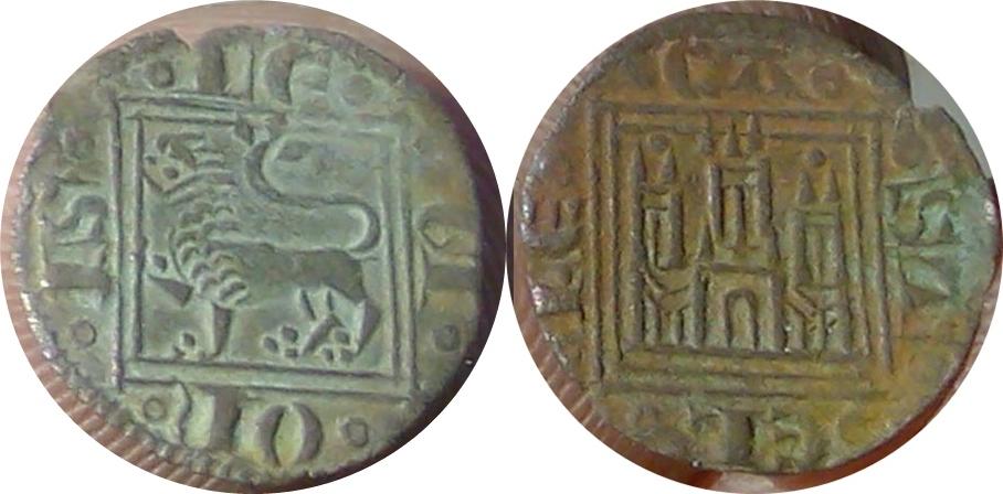 Meaja de Alfonso X (1252-1284) con marca de ceca 'un punto encima de cada torre lateral' Image