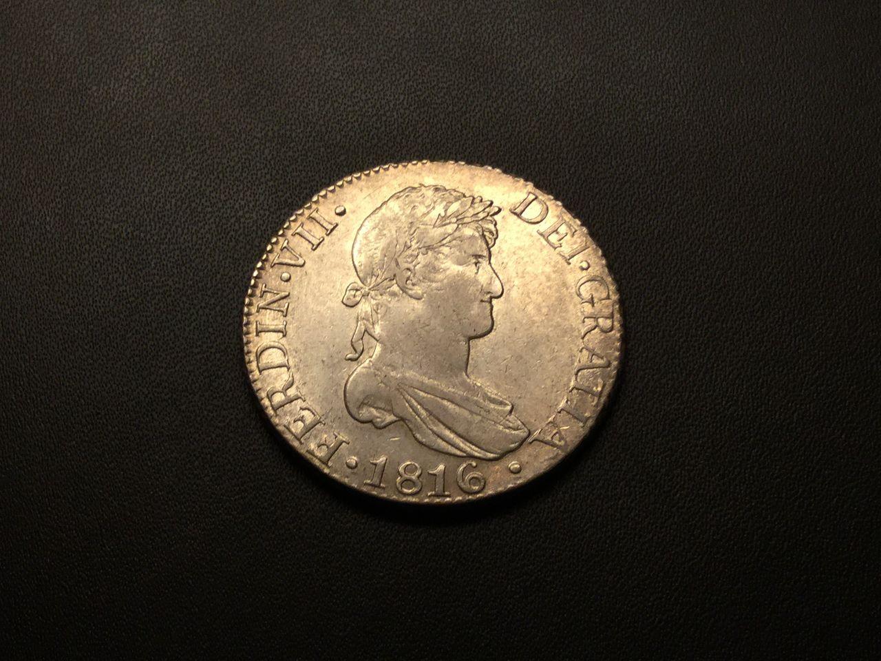 Fernando VII 8 Reales 1816 Sevilla Image