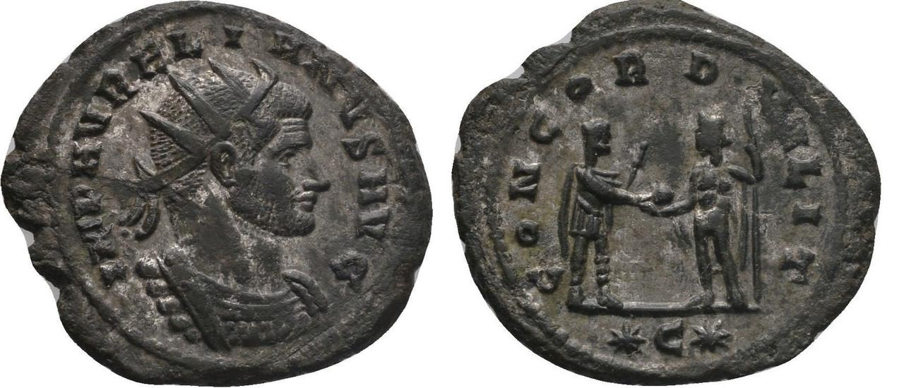 Antoniniano de Aureliano. CONCORD MILIT.  Aureliano_cycico_ric_342