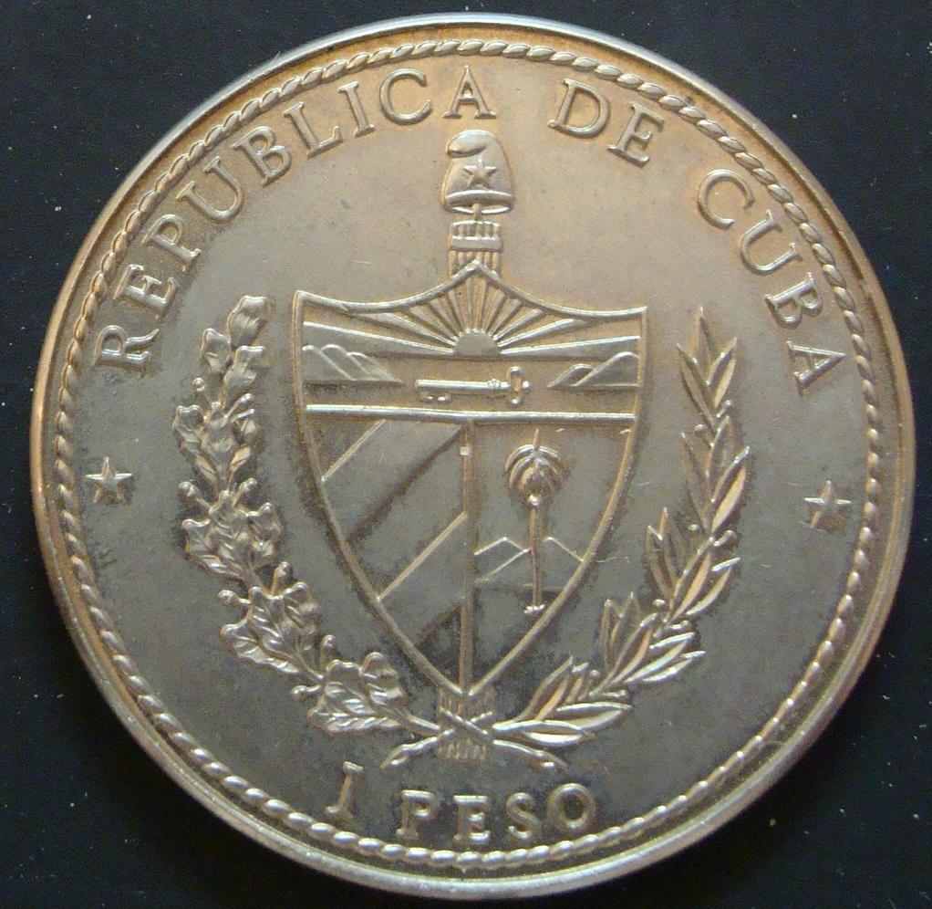 1 Peso. Cuba (1990) V Centenario CUB_1_Peso_Fernando_el_Cat_lico_anv