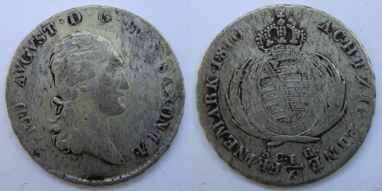 1/6 Thaler. Federico Augusto I de Sajonia, Alemania. 1810 1_6_Thaler_1810_Sajonia