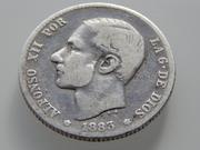 1 peseta 1883. Alfonso XII RSCN2345