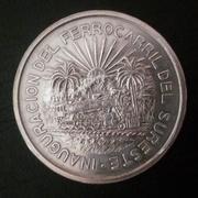 5 pesos Méjico 1950  Inaguración del ferrocarril del sureste 20180506_174653