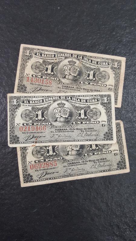 Tres Pesos del Monopoli (Banco Español Isla de Cuba 1896) 20171219_092740