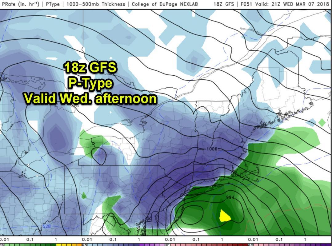 March 7th Godzilla: 1st Call Snow Map 18z_gfs_ptype
