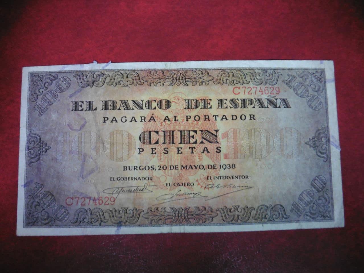 100 Pesetas 1938 P1000281
