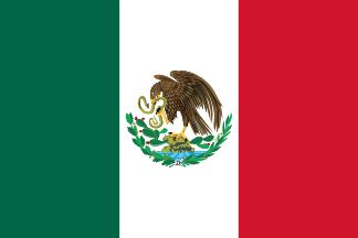 2 Pesos. México. 1945  Flag_of_Mexico_1917_1934