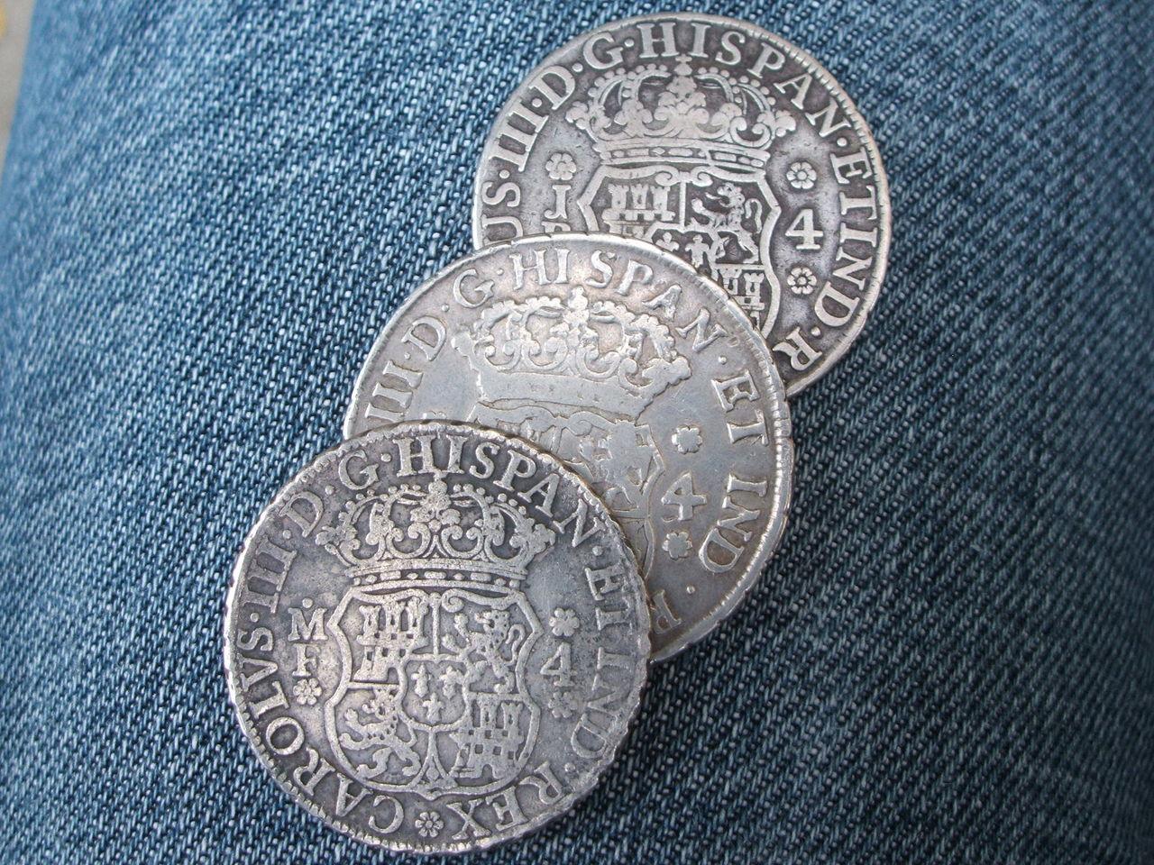"""3 reales  """"columnarios""""  Carlos III 028"""