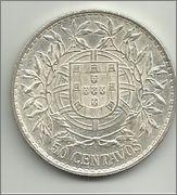50 Centavos de escudo. Portugal. 1913  50_centavos_de_escudo_1913_r