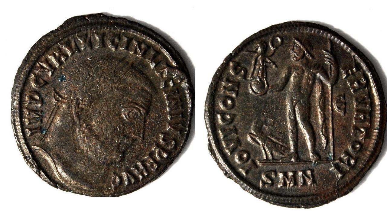 Nummus de Licinio I. IOVI CONSERVATORI. Licinio_i_smn
