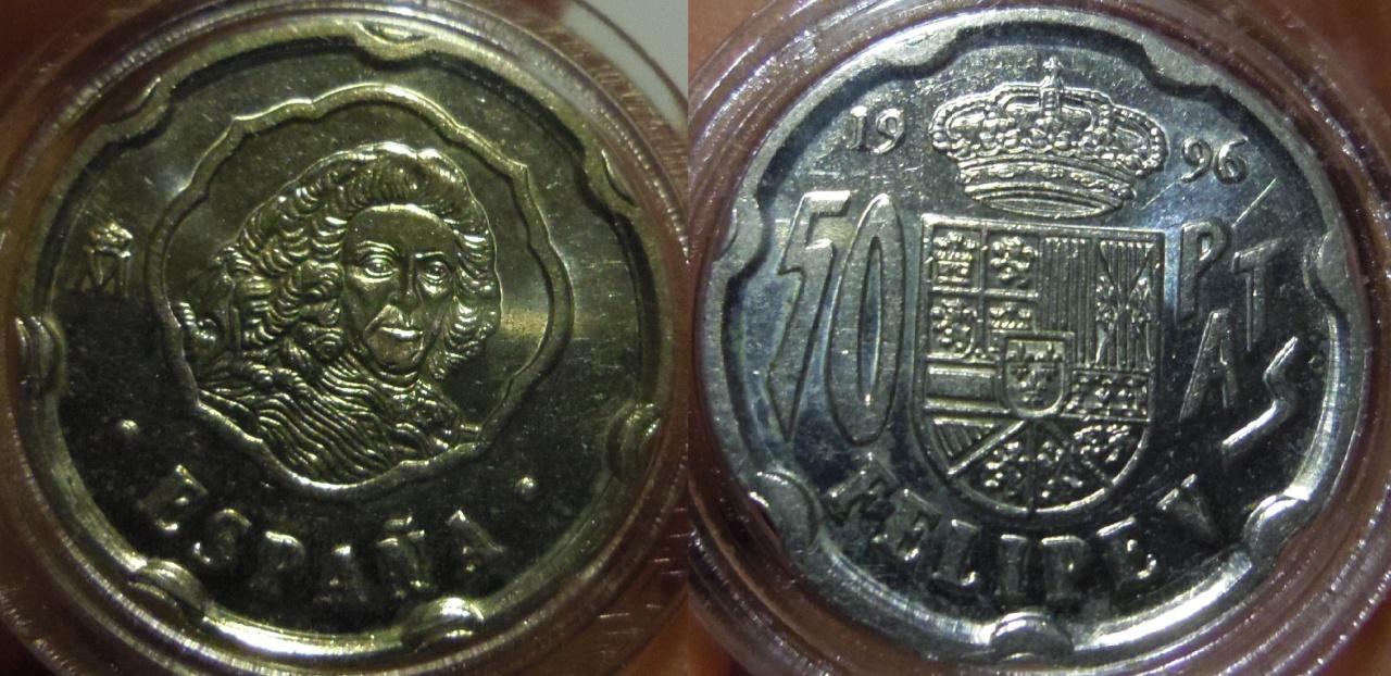 50 Pesetas. Felipe V. Madrid. 1996. SC. Imgp4320
