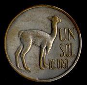 1 Sol de Oro muy blanco 1.974  Perú Sol_chapado