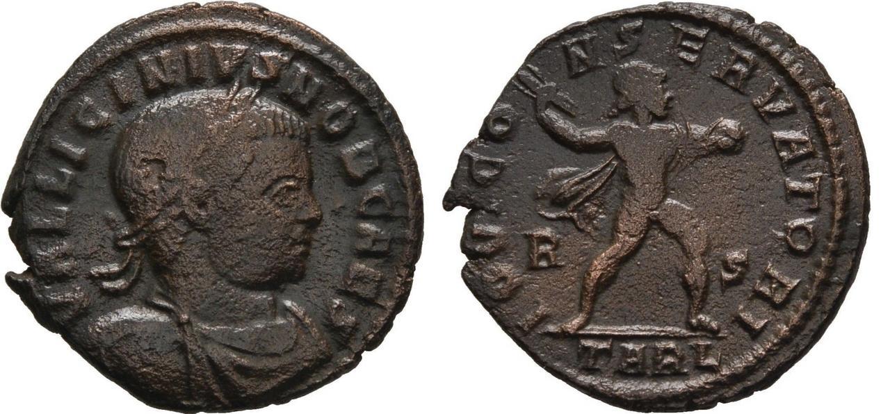 Nummus de Licinio II. IOVI CONSERVATORI.  Licinio_II_TARL