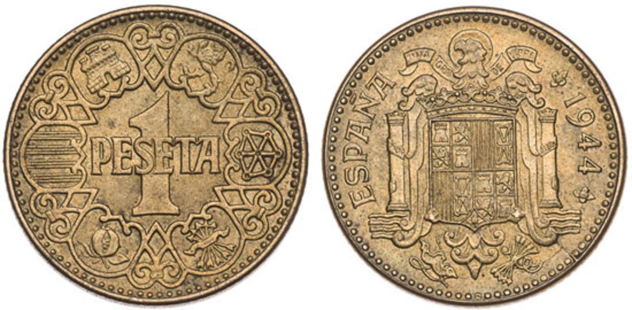 "peseta 1944 -   1 Peseta 1944 ""La del 1"". Francisco Franco. Estado Español. PROY_000138_4639"