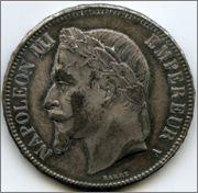 5 f francia 1868 '' falsa overdad'' Gf2
