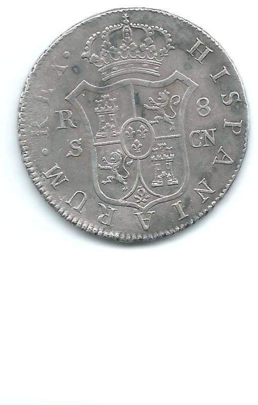 8 reales de Fernando VII de 1809 Sevilla Image