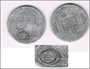 AYUDA A IDENTIFICAR 10 CTMOS 1940-1953 PERRA GORDA Resello