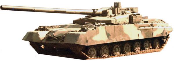 «Объект 490А» - опытный основной боевой танк (НИР «Бунтарь») 61Zx2