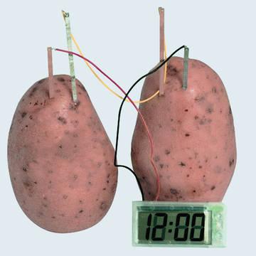 Супер!!!!! Часы работают от обычной картошки  E4arK