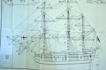"""""""HMS Endeavour"""", Mantua, 1/60 N25rl"""