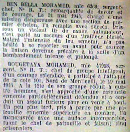 Le tirailleur marocain Ben Bella, l'infiltré du FLN Medaillemilitairebenbella