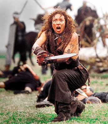 Women Wearing Revealing Warrior Outfits Alex-kingston-boudicca